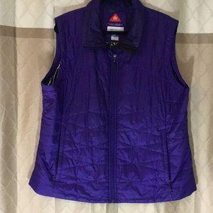 Columbia Omni-Heat purple vest